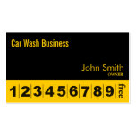Modern Black Car Wash Business Loyalty Card Double-Sided Standard Business Cards (Pack Of 100)