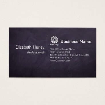 Professional Business Modern Black chalkboard Business Card Template