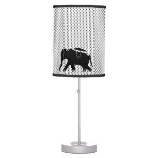 Modern Black Dots Walking Elephants Lamps
