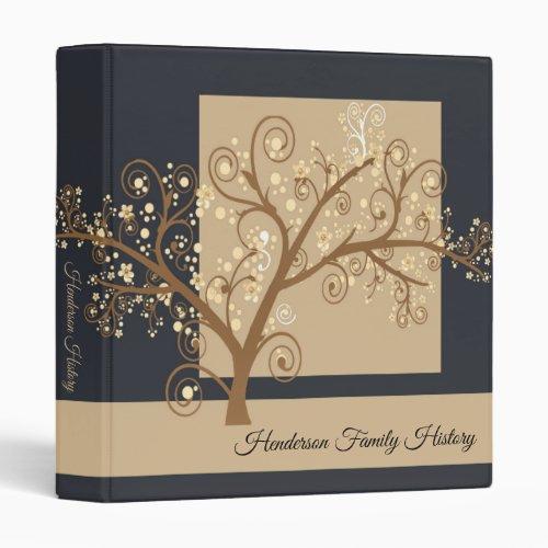 Modern Black Family Tree Genealogy 3 Ring Binder