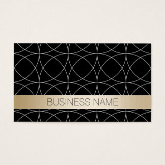 Modern Black & Gold Aerospace Engineer Business Card