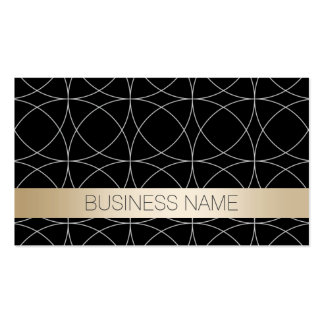 Modern Black & Gold Climatologist Business Cards