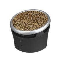 Modern Black Gold Foil Cheetah Animal Pattern Bluetooth Speaker