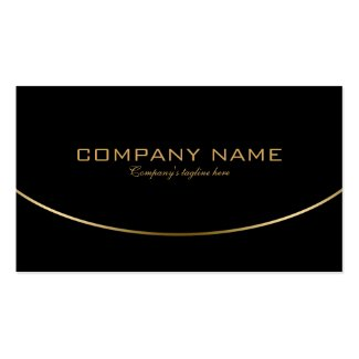 Modern Black & Gold Simple Geometric Design Double-Sided Standard Business Cards (Pack Of 100)