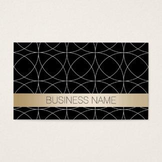Modern Black & Gold Sports Agent Business Card