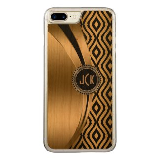 Modern Black & Gold Teardrop Geometric Pattern