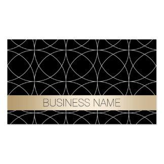 Modern Black & Gold Wedding Planner Business Card
