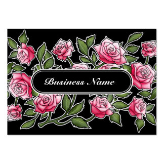 Modern Black Graphic Square Floral Large Business Cards (Pack Of 100)