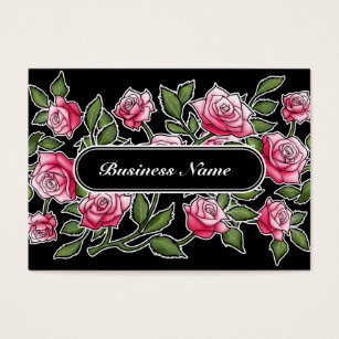 Natural hair business cards templates zazzle modern black graphic square floral business card colourmoves