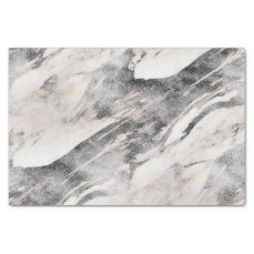 Modern Black & Gray Marble Wedding Tissue Paper