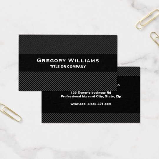 Modern black gray masculine professional business card