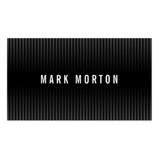 Modern black gray stripes elegant stylish dark Double-Sided standard business cards (Pack of 100)