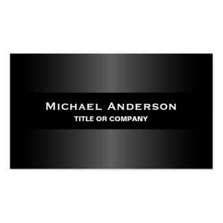 Modern black gray stylish dark professional Double-Sided standard business cards (Pack of 100)