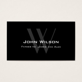 Modern Black Grey Daddy Calling Card