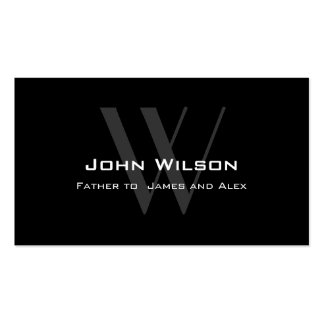 Modern Black Grey Daddy Calling Card Double-Sided Standard Business Cards (Pack Of 100)