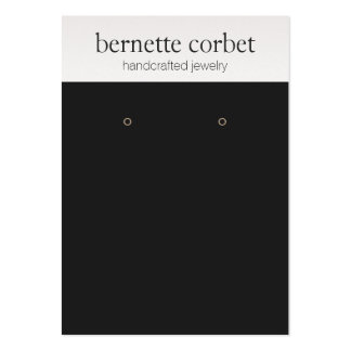 Modern Black Jewelry Designer Earring Display Card Large Business Card