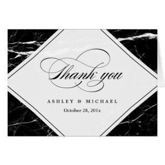 Modern Black Marble Texture Thank You