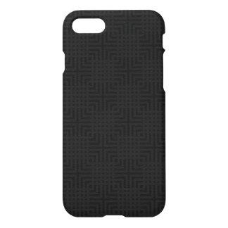 Modern Black -Maze Pattern- Custom iPhone 7 Case