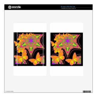 Modern Black Monarch Butterflies Art Design Kindle Fire Decal