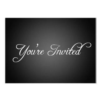 Modern Black Party Invitation
