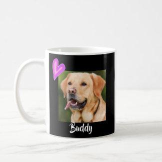 Modern Black Pet Photo Mug Customize Dog Cat