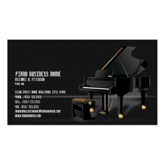 Modern Black Piano Business Plain Card* Business Cards