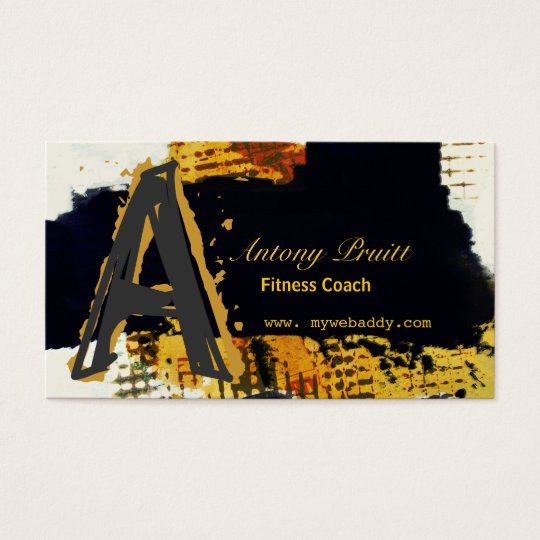 Modern Black  Professional Abstract Passion Business Card
