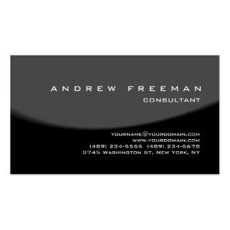 Modern Black Red Grey Spiral Elegant Stylish Business Card