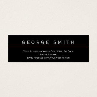 Modern Black - Red Simple Plain Business Card
