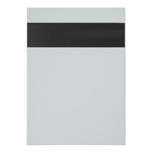 Modern Black Ribbon Silver Law School Graduation 5x7 Paper Invitation Card (back side)