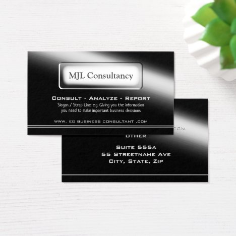 Modern black shine theme - Consultant Business Card
