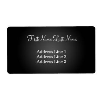 Modern Black Shipping Address Label