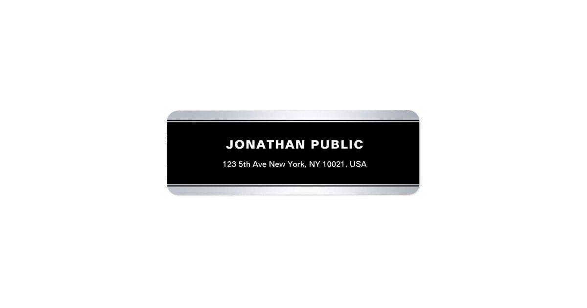 Elegant Plain Return Address Label