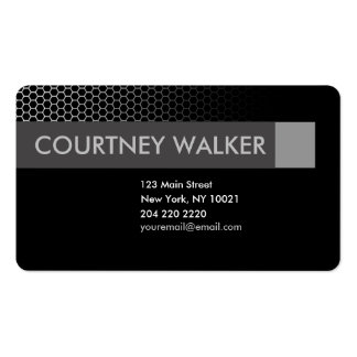 Modern black & silver honeycomb business cards
