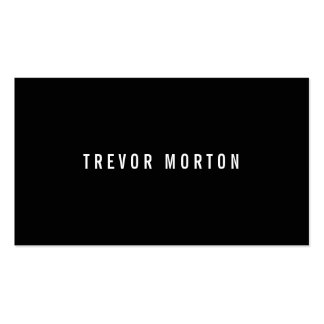 Modern black simple generic professional Double-Sided standard business cards (Pack of 100)