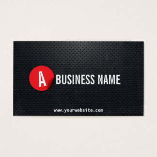 Modern Black Steel Game Testing Business Card