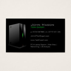 Modern Black Technology - Business Card at Zazzle