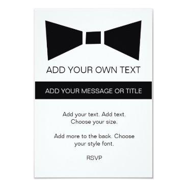 Professional Business Modern Black Tie Business Event Custom Invite