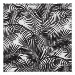 Modern black tropical palm trees pattern poster