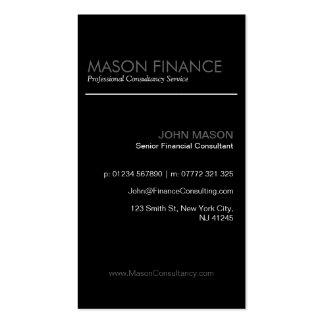 Modern Black Vertical - Professional Business Card