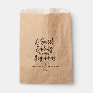 Modern Black Wedding a Sweet Ending Favor Bag