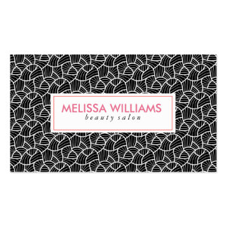 Modern Black & White Abstract Pattern Business Card