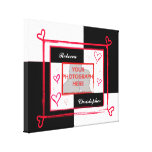 Modern Black White and Red Love Photo Frame Canvas Canvas Print