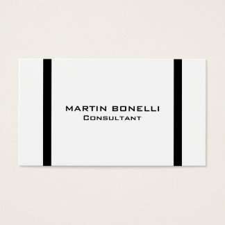 Modern Black White Border Standard Business Card