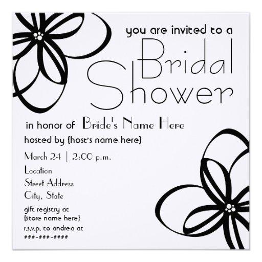 Modern Black & White Bridal Shower Invite