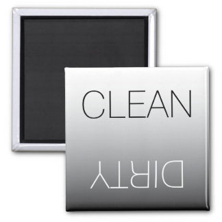 Modern Black & White Clean Dirty Dishwasher Magnet