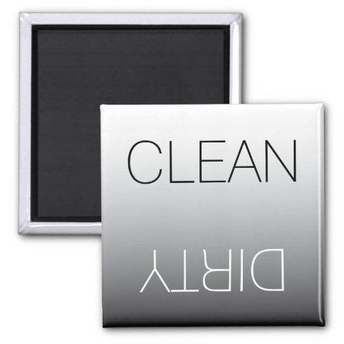 Modern Black & White Clean Dirty Dishwasher Magnet