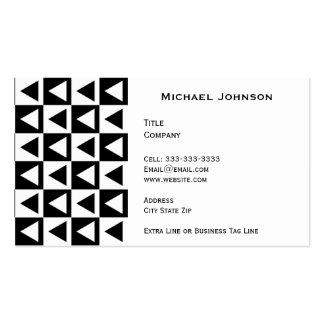 Modern Black White Diamond Shaped Tile Pattern Business Card