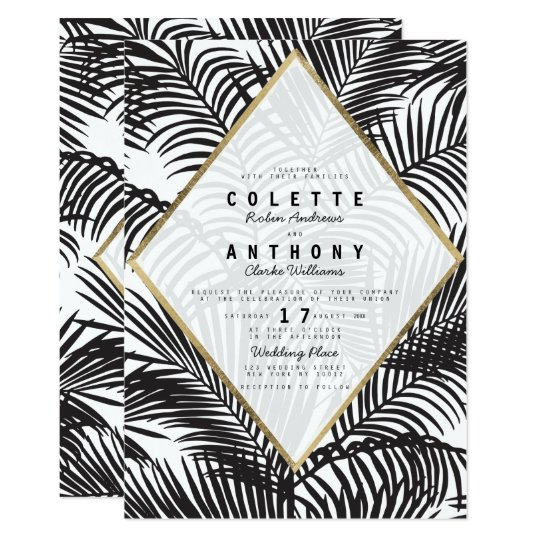 Black and White Wedding Invitations 17100 Black and White – Black and White Wedding Invites