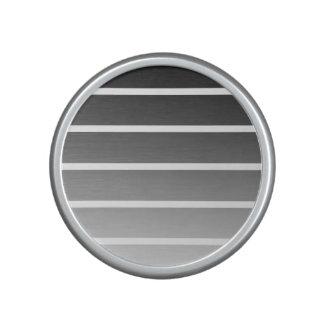 Modern Black & White Gradient Stripes Bluetooth Speaker